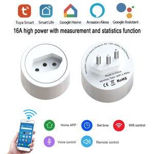 Image 1 - ברזיל Tuya WiFi חכם כוח תקע חשמל שקע אינטליגנטי קיבוץ שליטה בזמן אמת ניטור חריגות Alexa קול
