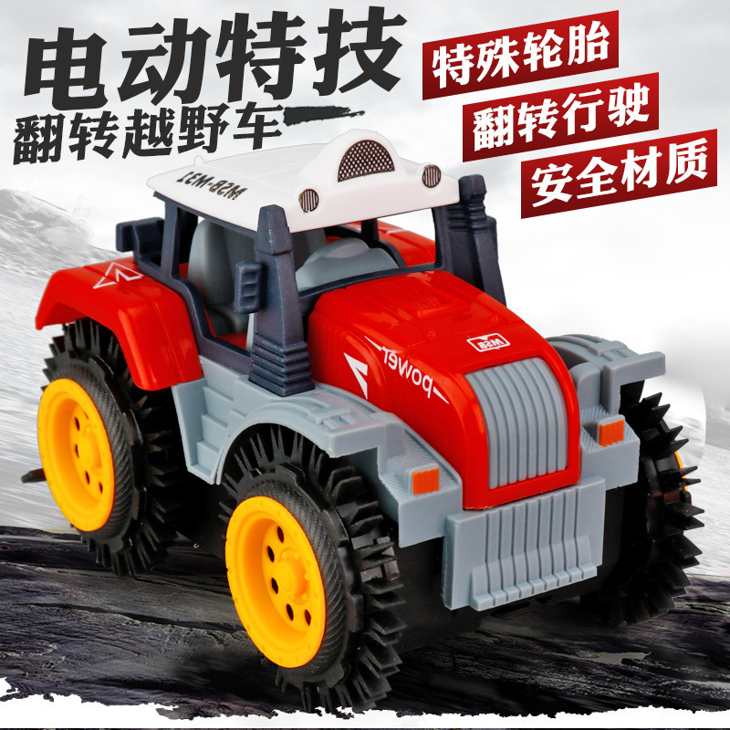 Stall Hot Selling CHILDREN'S Toy Farmer Car Stunt Dumpers Stall Electric Climbing Car Hot Selling