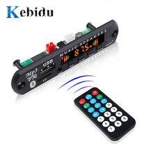 Kebidu Bluetooth 5.0 alıcı araç kiti MP3 çalar dekoder kurulu renkli ekran FM radyo TF USB 3.5 Mm AUX ses iphone XS için