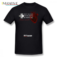Grays Anatomy T Shirt Gray Sloan Memorial Hospital Team Cardio T-Shirt Short Sleeves Plus size Tee Summer Tshirt