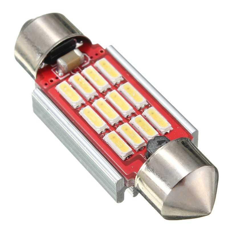 2 Pcs/4 Pcs/10 Pcs LED Dome Lampu 4014 SMD 12LED 36 Mm 39 Mm 42 Mm CANbus Interior Dihiasi Kesalahan Gratis Doom Lampu Bohlam Lampu Baca