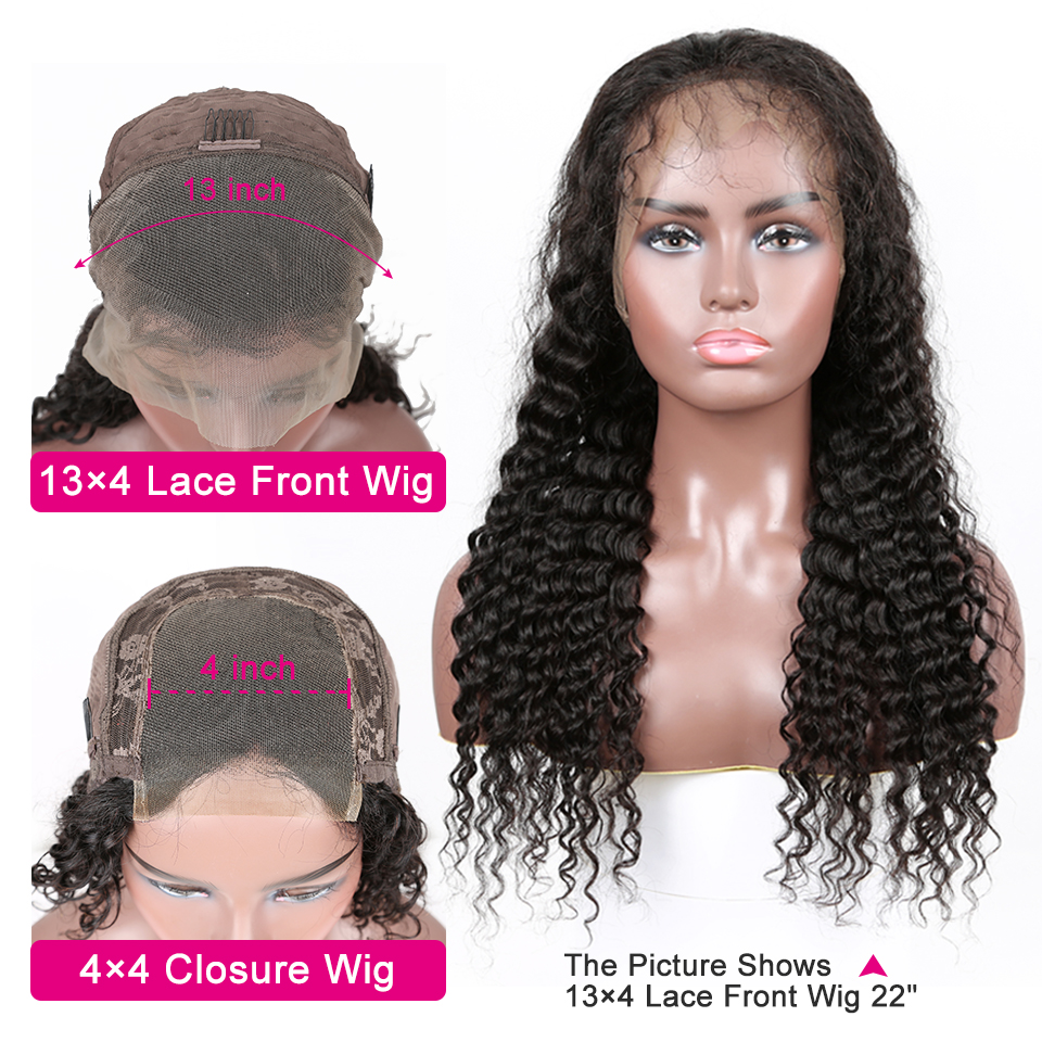 YYong 30 32 inch 13x4 Lace Front  Wig Pre Plucked Deep Wave Lace Frontal Wig 150%  4X4 Lace Closure Wig 2