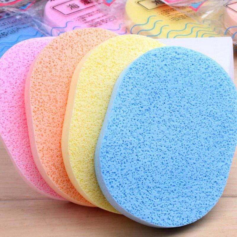 5pcs Pro Sponge Face Pad Facial Cleaning Pad Cleansing Wash Puff Random Wholesale