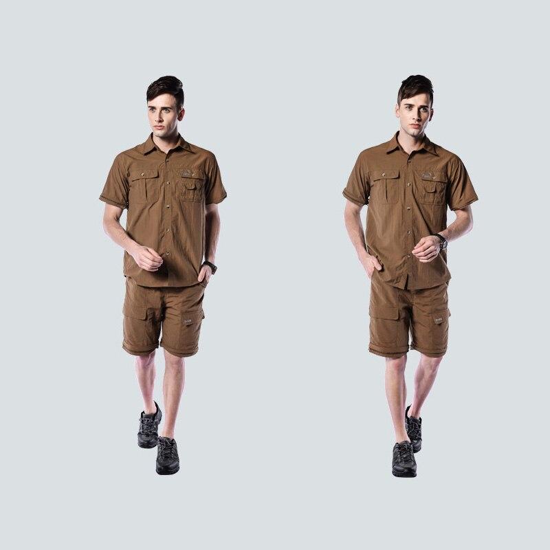 Профессиональные мужские походные футболки дышащие съемные спортивные топы рыбацкий трекинговый охотничий Мужской Быстросохнущий походная куртка