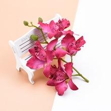 4 heads/bundle Thai orchid wedding decorative flowers wreaths scrapbooking home decoration accessories Artificial flowers cheap