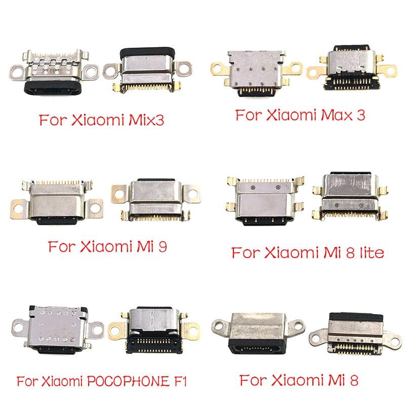 5Pcs/Lot,Charger Port Micro USB Connector Jack Socket For Xiaomi Mi A1 A2 8 9 CC9E Max3 Mix 3 Redmi Note 7 Pro Parts