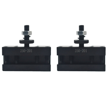 2Pcs 250-201 Quick Change Tool Holder Turning and Facing Tool Holder for Lathe Cutter Cutting Tool Bits