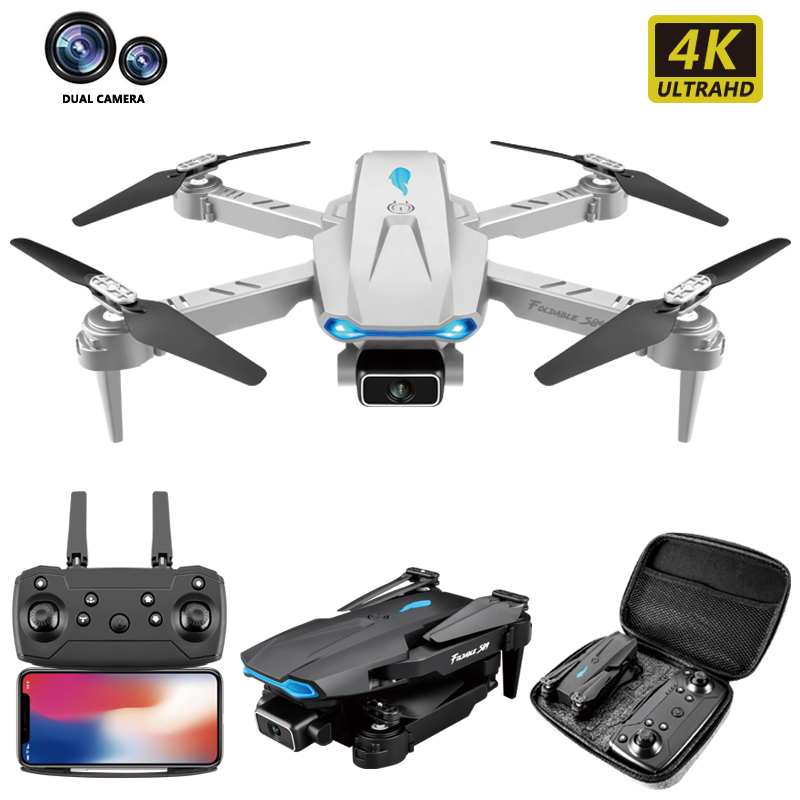 S89 mini rc drone 4k profesional dron fpv quadcopter dron  on the remote control photography