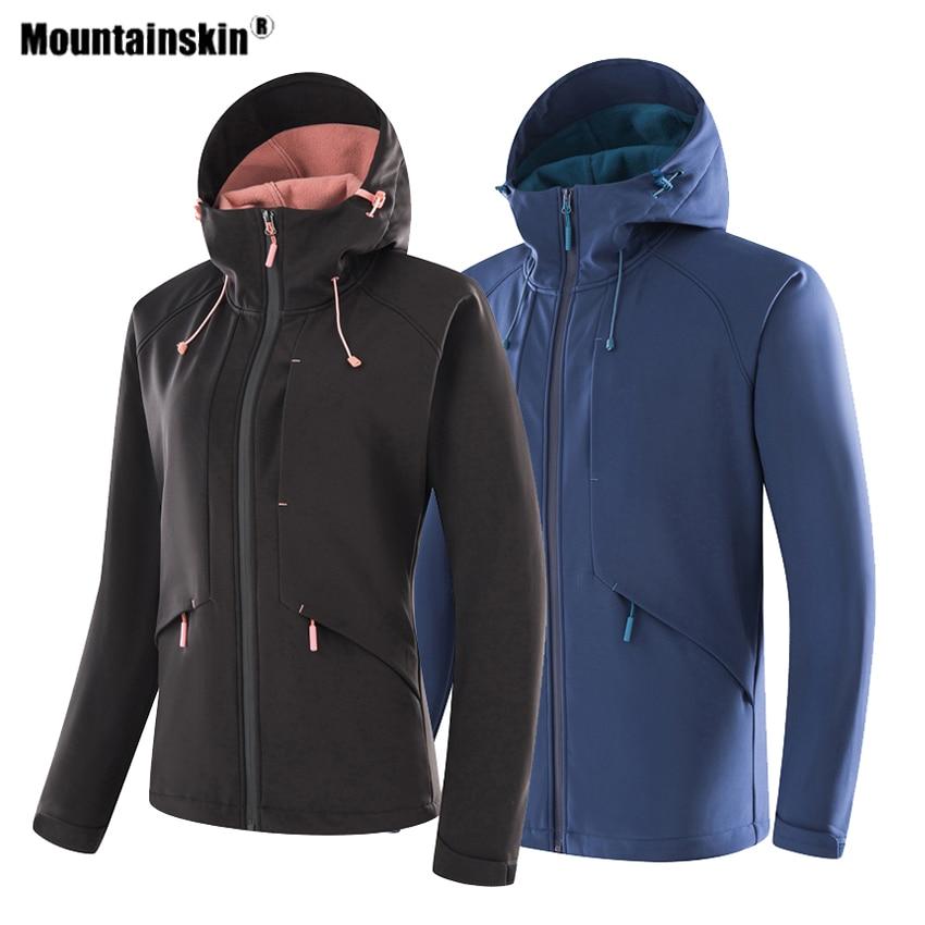 Mountainskin Men Women Softshell Hiking Thick Jackets Outdoor Sports Windproof Climbing Windbreaker Trekking Camping Coats VA618|Hiking Jackets| |  - title=