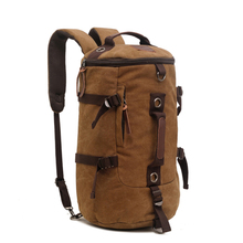 Men's Travel Bag Canvas Large Capacity Travel Duffel Daypack Bags Multifunction Tote Casual Backpack Women Campaign Rucksack