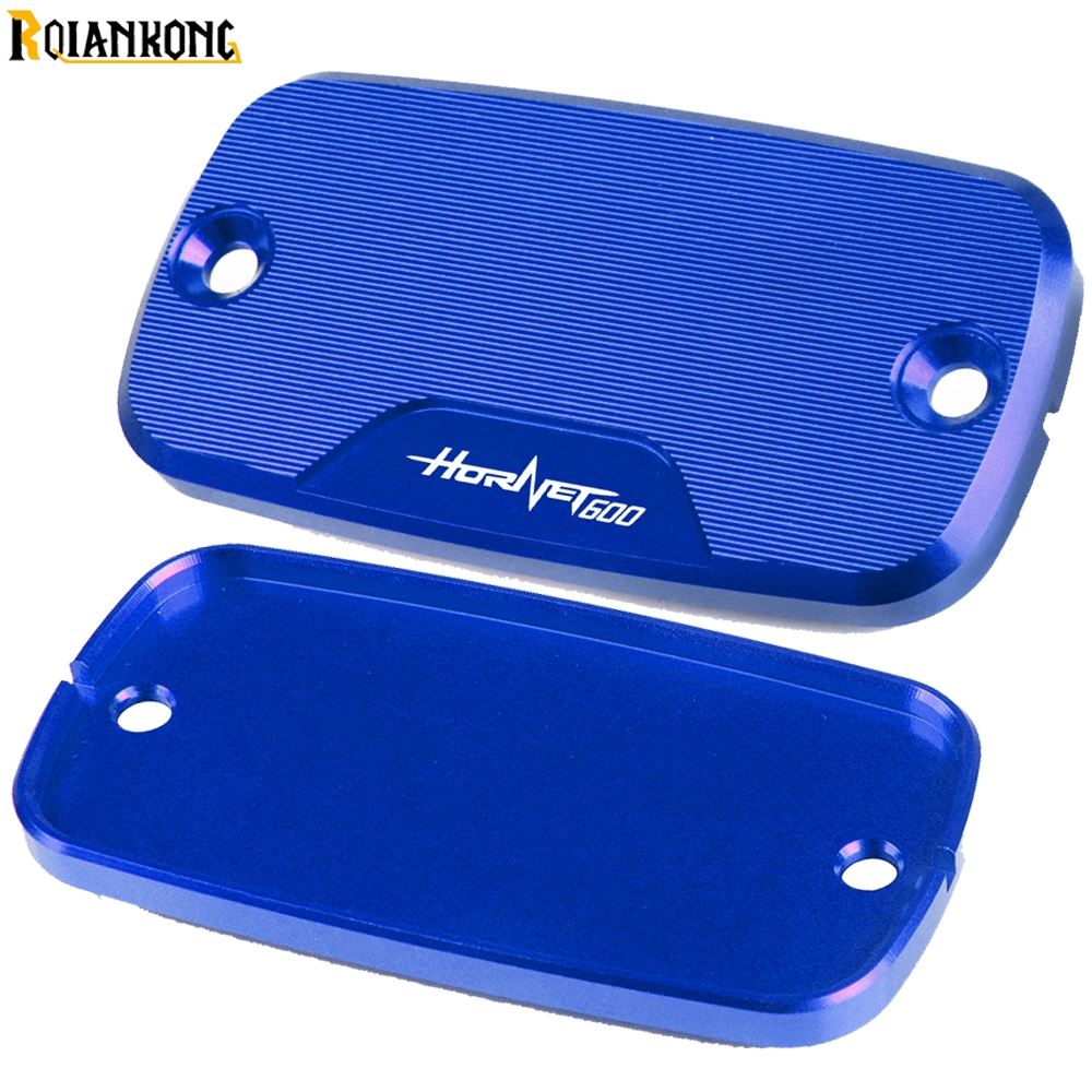 1 pair Motorcycle Brake Fluid Reservoir Cap Cover For Honda Hornet600 1998 1999 <font><b>2000</b></font> 2001 2002 2003 2004 2005-2014 <font><b>Hornet</b></font> <font><b>600</b></font> image