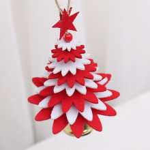 Christmas Decoration Christmas Tree Ornaments Pendant Christmas Decorations DIY Felt Christmas Tree Decoration upside down xams tree decorative hanging ornaments 24 inch artificial inverted christmas tree decorations y
