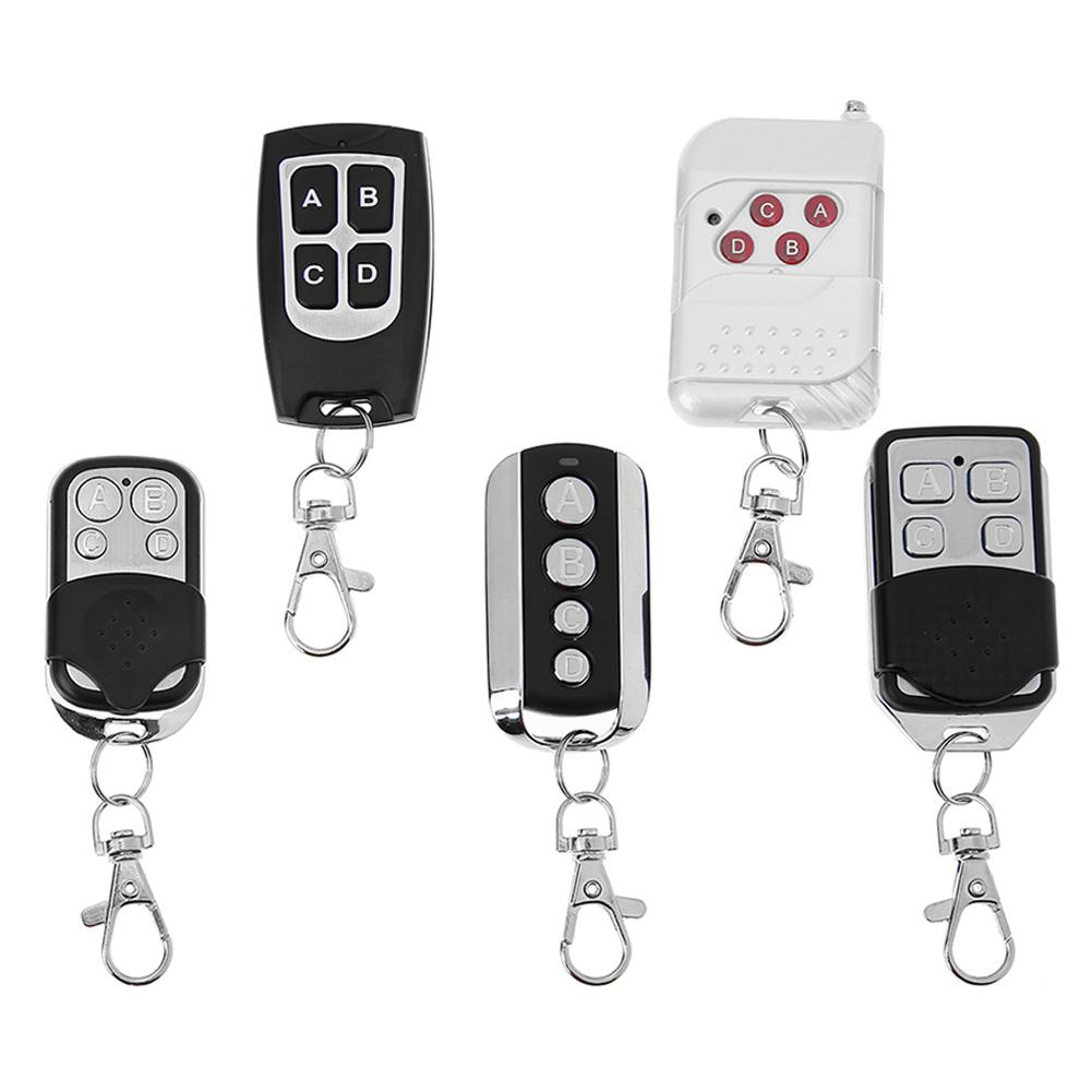DC 12V 4 Way Remote Control Switch 4 Keys Remote Control Wireless Remote Control Switch Receiver 75X55X30mm