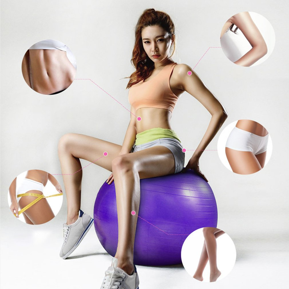 Exercise Ball  Extra Thick Yoga Ball Chair, Anti-Burst Heavy Duty Stability Ball Supports 2200lbs, Birthing Ball With Quick Pump