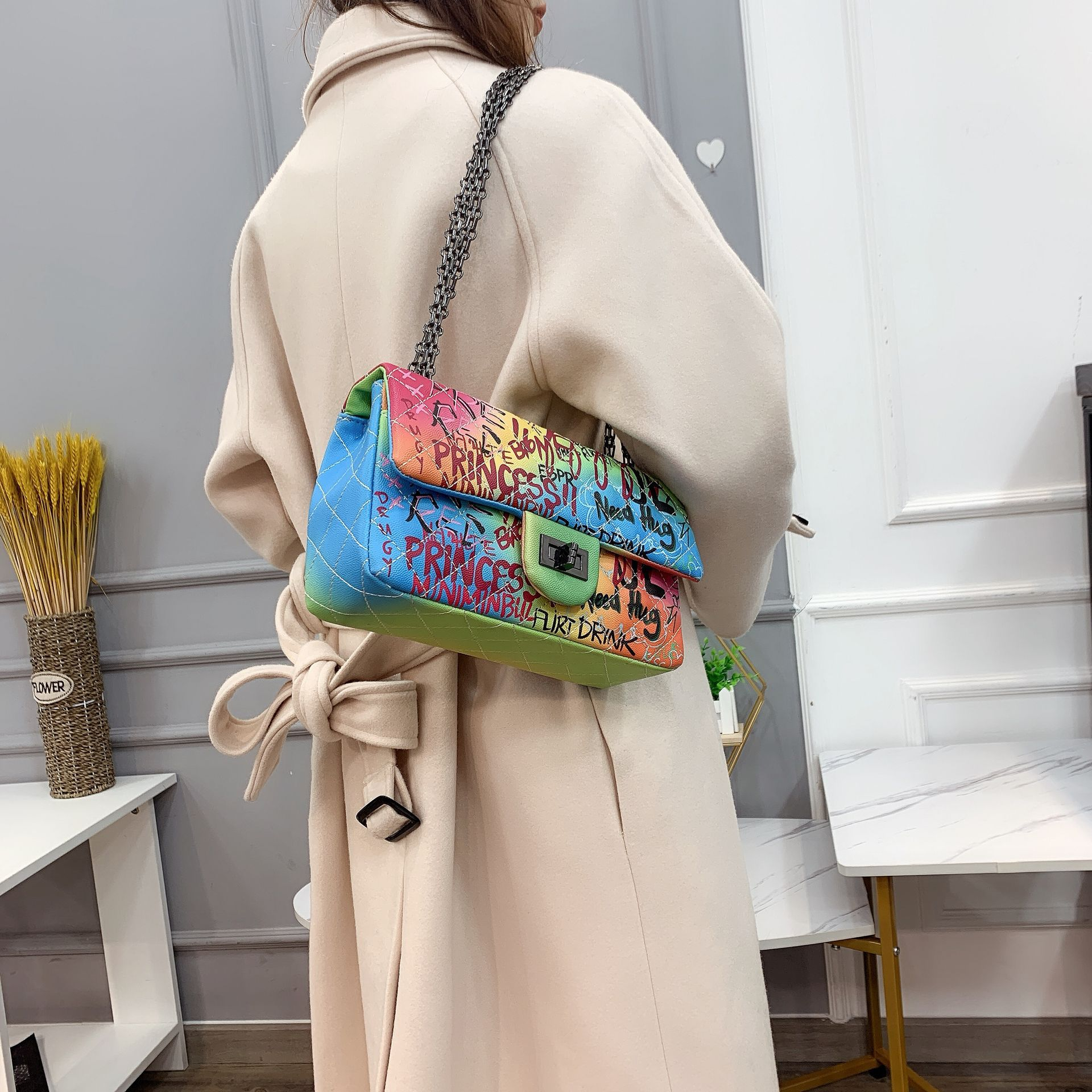 bolsa de viagem saco Do Mensageiro da cadeia de luxo
