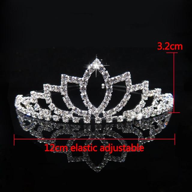 AINAMEISI księżniczka kryształowe tiary i korony z pałąkiem na głowę Kid Girls Love bal weselny korona wesele akcesoria biżuteria do włosów