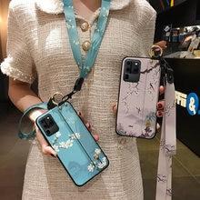 Funda de soporte de teléfono para Samsung Galaxy, protector de correa de muñeca con cordón para Samsung Galaxy A51 50 71 A70 A30s S20 S21 Ultra S10 S9 S8 Plus Lite Note 10 Lite