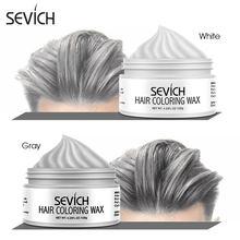 Geçici saç rengi balmumu erkekler diy çamur tek kullanımlık kalıp macunu boyası krem saç jeli için saç boyama stil gümüş gri