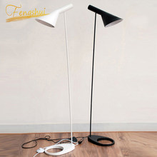 Nordic Design AJ Floor Lamp Black Metal Standing Light Living Room Bedroom Bedside LED Decorate Floor Lamps Lighting Luminaria(China)