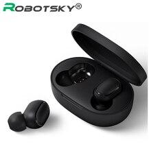 A6S kablosuz kulaklık spor kulaklık Bluetooth 5.0 TWS kulaklıklar gürültü iptal Mic iPhone Huawei Samsung için Xiaomi Redmi