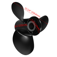 48 77344A45 Marine Boat Outboard Propeller 13 1/4 x 17 Aluminum Alloy For Mercury 60 75 90 100 115 125 HP Accessory Set 3 Blades