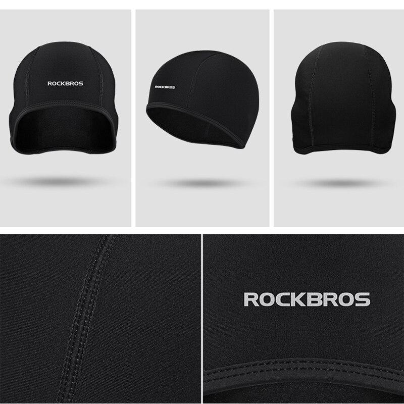 RockBros Winter Cycling Caps Men Thermal Fleece Outdoor Sport Earmuffs Hats Caps