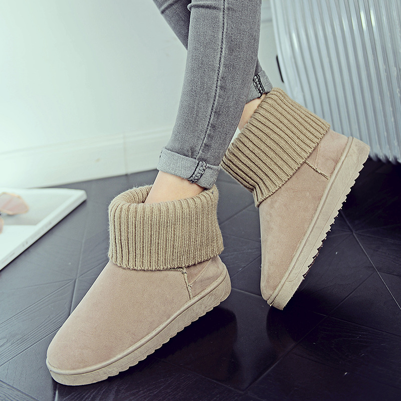 Women's new snow boots winter fashion wild classic women's shoes simple warm non-slip waterproof wool shoes ladies ankle boots 74