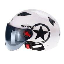 Kask elektryczny samochodzik hulajnoga otwarta twarz pół czapka z daszkiem kask ochronny anty uv kask rowerowy