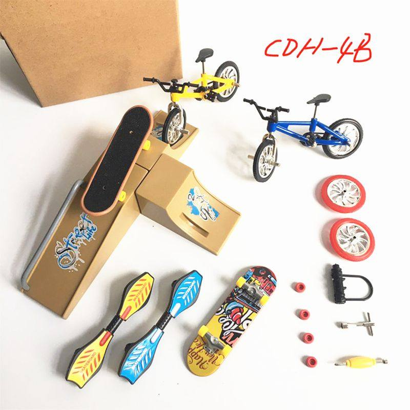 Simulation Skateboard Scene Bicycle Model Toys Fingertips Toy Cars Set Bicycle Folding Scooters Vitality Board Scooters|Mini Skateboards & Bikes| - AliExpress