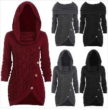 Autumn Winter Coat Women 2019 Casual Vintage Patchwork Cloak Plus Size Coats Female Elegant Warm Black Long Coat casaco feminino 19