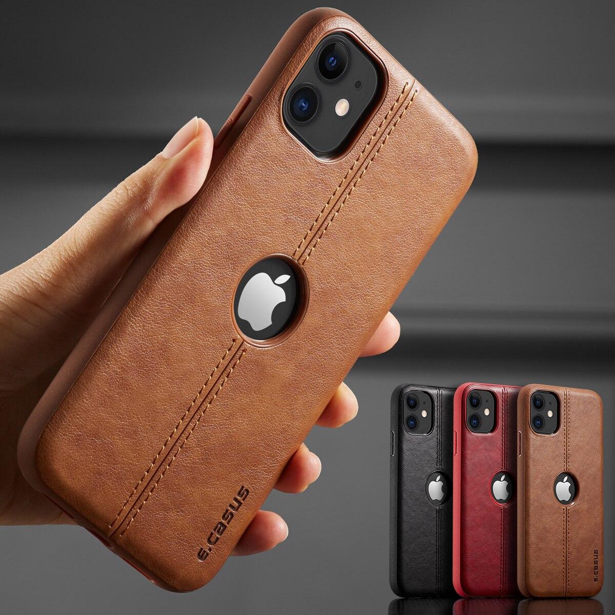 Для iPhone 11 11 Pro 11 Pro Max чехол, новый тонкий роскошный кожаный чехол накладка для iPhone 11 XR XS MAX 8 7 6 Plus, противоударный чехол|Специальные чехлы|   | АлиЭкспресс