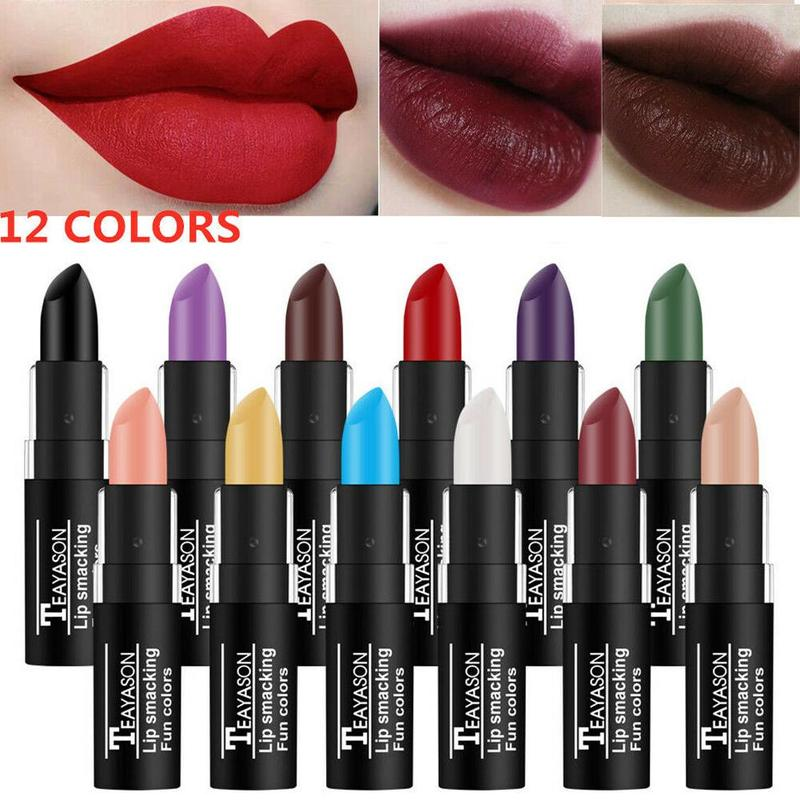 12 Colors Lure Matte Lipstick Halloween creative makeup retro Lip Sticks focal Long Last nude lure Popular lipstick