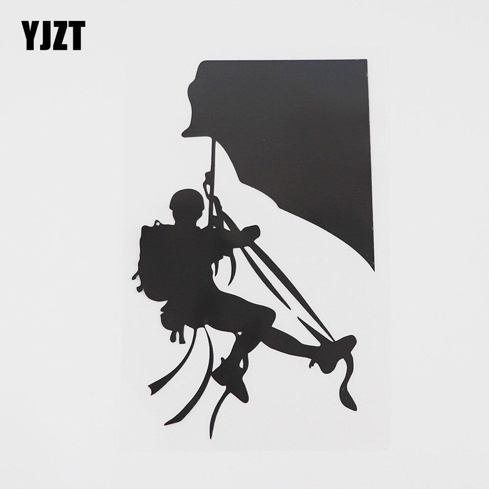YJZT 9.9CMX15.8CM Горные Скалолазание экстремальный спорт Наклейка виниловая Автомобильная наклейка черный/серебристый 8A-0718