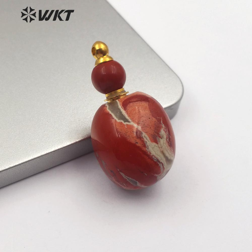 WT-P1464  New!!! Natural Stone With Gold Pendant Classic Gourd Shape Pendant Women Vintage Jewelry Connector