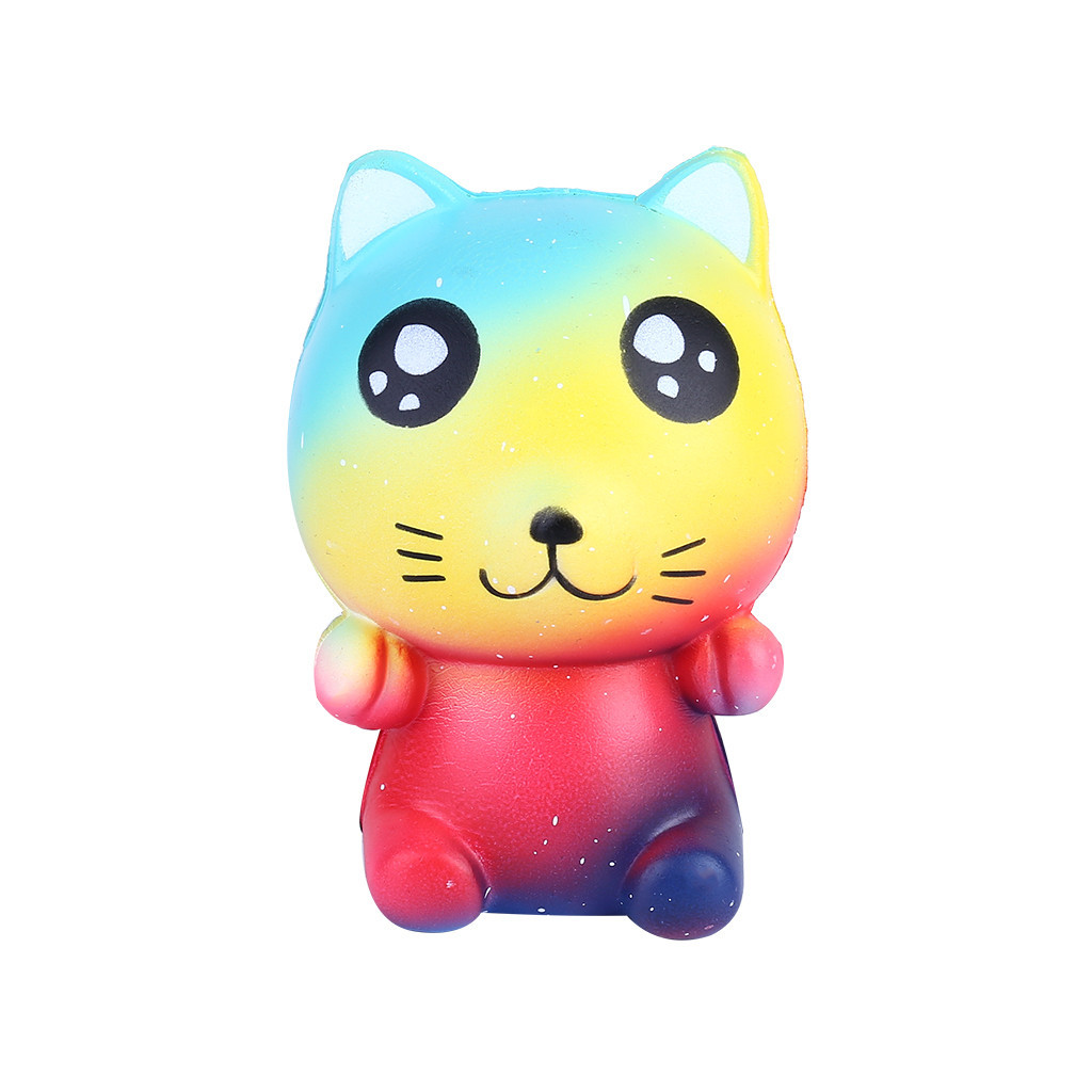 Colorful Cartoon Cat Kids Adult Toy Stress Reliever Eliminate Antistress Finger Pets Toy Girl Gifts Girly Heart Pinch Fun #B