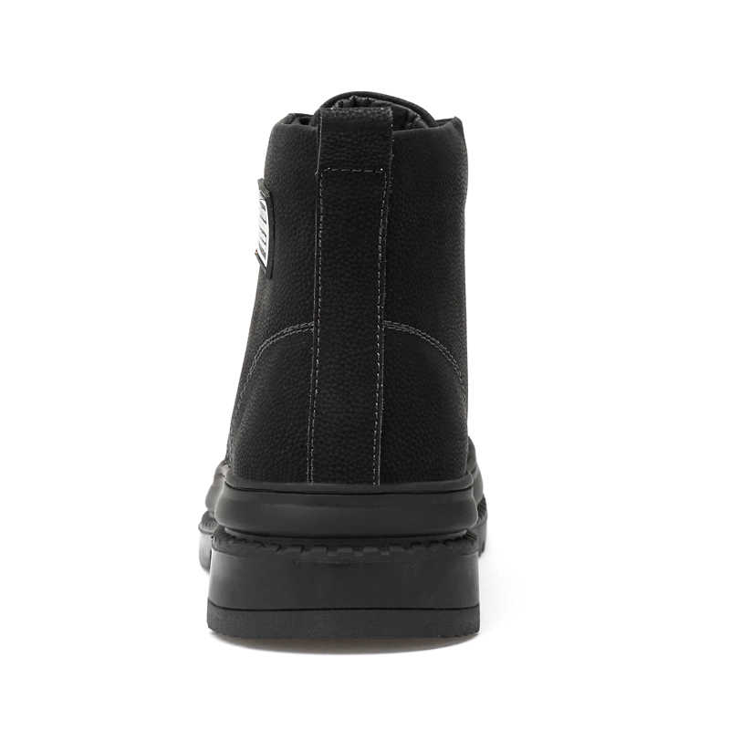 VESONAL Merk Echt Leder Mannen Ankle Laarzen Voor Volwassen Winter Warme Korte Pluche Snowboots Casual Sneakers Mannen Schoenen Schoeisel