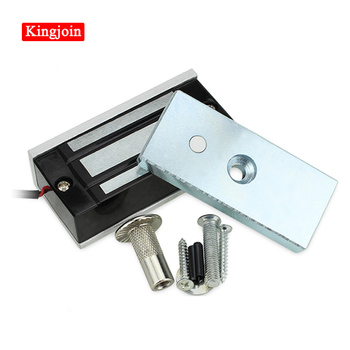 60KG Electric Lock Fail Secure Magnetic Induction Door Lock DC 12V for Door door magnetic lock tmezon electric strike lock narrow type electric door lock for home office wood metal door no mode fail secure dc 12v access