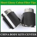 1 шт.: короткие накладки на выхлопные трубы из углеродного волокна Ak  выхлопные трубы для мотоцикла  универсальный глушитель для автомобиля ...