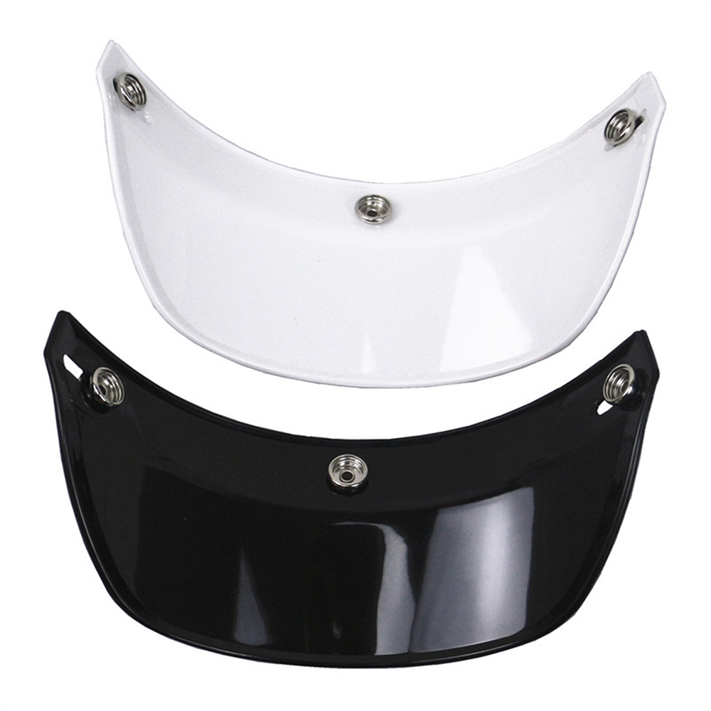 Universal 3 Snap-Button Visor Flip Up Wind Shield  for Open Face Motorcycle Helmet