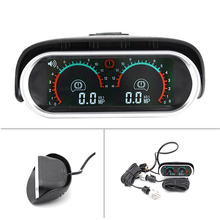 Грузовик гоночный автомобиль Манометр ЖК-цифровой дисплей турбо Boost Калибр автомобильный двойной барометр Boost контроллер комплект 12 В/24 В Калибр для автомобиля