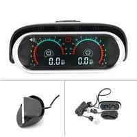 Truck Car Racing Gauge LCD Digital Display Turbo Boost Gauge Car Double Barometer Boost Controller Kit 12v/24v Gauge For Car