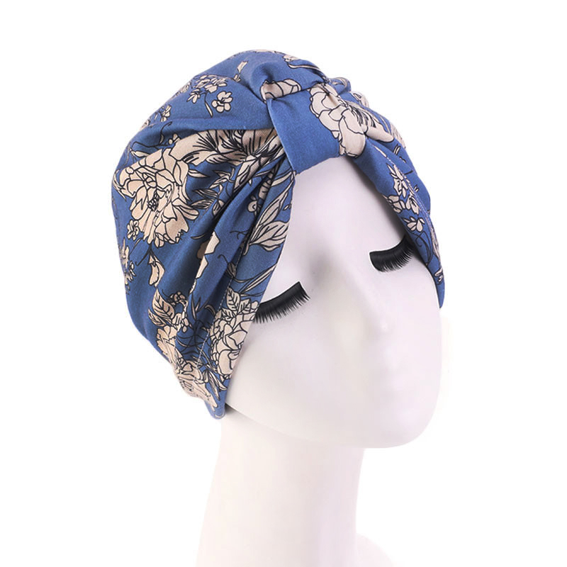 Muslim Turban Bonnet For Woman Boho National Style Print Inner Hijab Caps Arab Headwrap Turban Femme Musulman Women Head Scarf