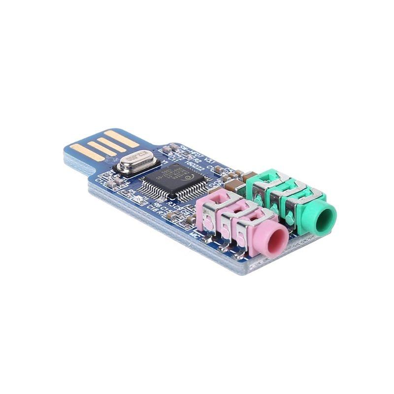 CM108 USB Drive Free Sound Card Laptop Computer External Sound Card Module 5