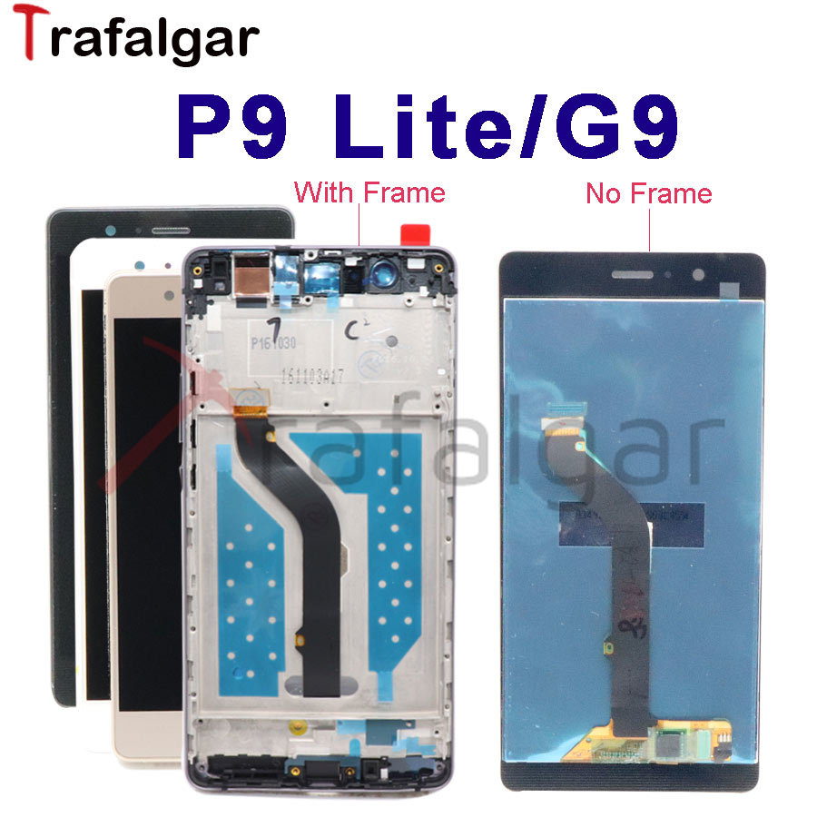 Display For Huawei P9 Lite LCD Display Screen Touch Digitizer Panel Assembly With Frame For Huawei P9 Lite LCD Screen G9 VNS-L21