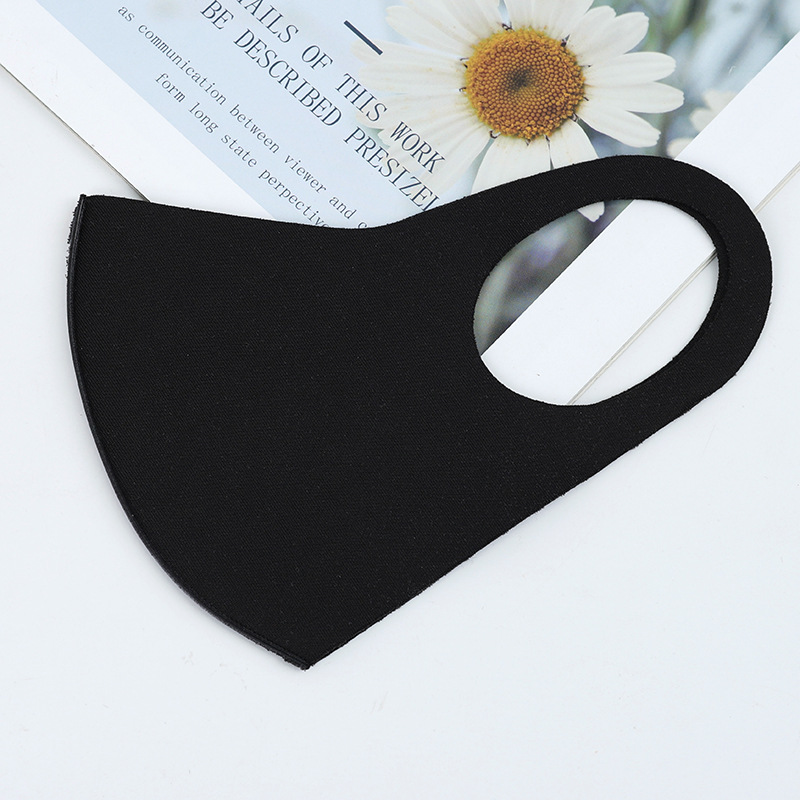 In Stock BYRIVER Reusable Mouth Mask , Washable Dust Proof Black Face Mask Breathable Super Soft Fashion Design
