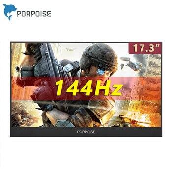 Monitor portátil de 17,3 pulgadas para ordenador, extensión de ordenador de lado estrecho, 1080p, 144Hz, Cscreen, Ps4, Switch, Xbox, Huawei, monitor de juegos para teléfono