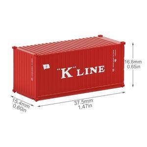Image 3 - Contenedor de 20 pies de escala N mixto, contenedor de envío de 1:150 20 pies, accesorio de modelo, 3 uds.