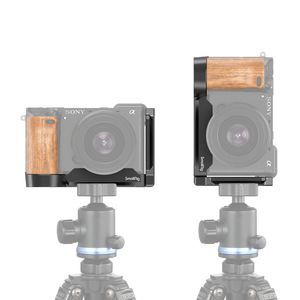 Image 5 - SmallRig L Bracket Plate With Wooden Handle for Sony A6400/A6300/A6100 Arca Swiss Standard L Plate Mounting Plate   2331