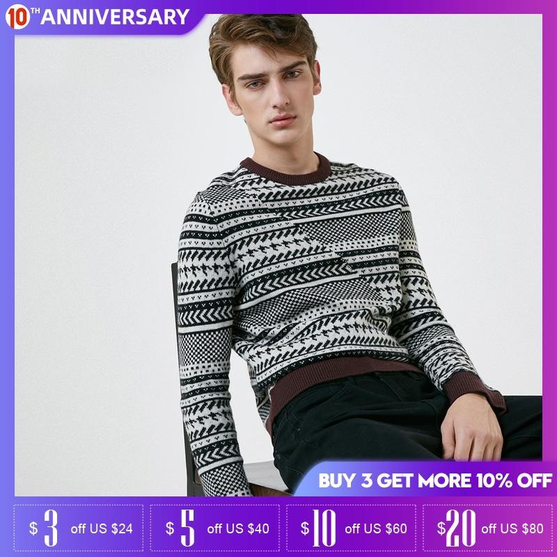 SELECTED Mens Men's Winter Long-sleeved Woolen Knit Sweater  418425526