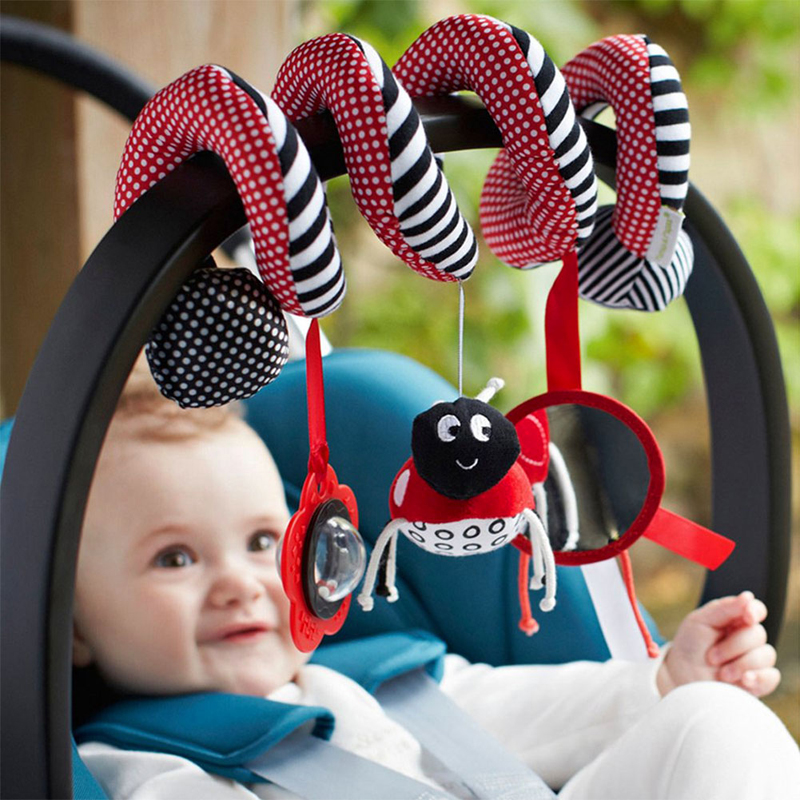 Baby Cute Toys Spiral Activity Bed Stroller Set Toy Crib Hanging Bell Rattle